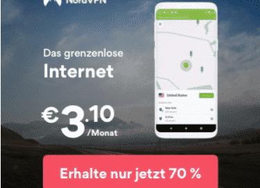 NordVPN Angebot 3 Jahre für nur €3.10/Monat